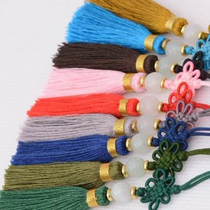 12pcs Lotto Cinese Knot Tassel Frangia Seta Bangs Flower Nappa Trim Ripresa decorativa per tende Decorazione domestica Accessori H JLLDIT