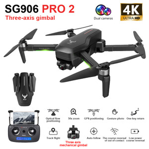ZLRC SG906 Pro 2 RC Drone with 4K Camera GPS 5G WIFI 3-axis Gimbal Drone Quadcopter Professional 50X Zoom Brushless Drones Toys 201105
