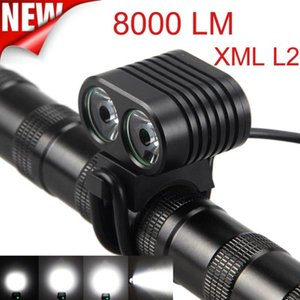 New Arrival 8000Lumen XM-L2 LED Cycling Front Bicycle Bike light Headlight Headlamp Bicycle Accessories Bike Light