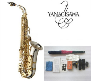 Brand NEW Sax Yanagizawa WO37 Alto Saxophone Nickel Plated Gold Key Professional Super Play Sax Mouthpiece With Case