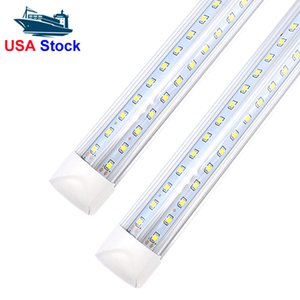 Led Tubes T8 Integrated 2FT 3ft 4ft 5ft 6ft V-Shaped Led Tubes Double Sides SMD2835 Led Fluorescent Lights 85-265V high brightness