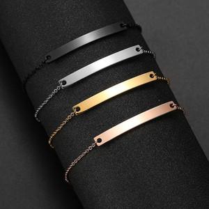 Fashion- Name Bracelet Custom Silver Letter Bracelet Gold Chain Choker Jewelry Stainless Steel Bracelets Women Family Gift