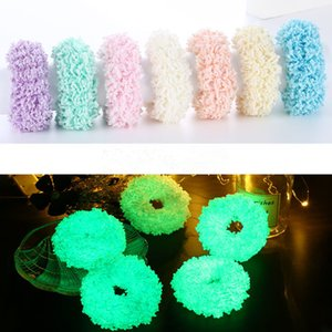 Luminous Hair Band Scrunchies Elastic Hair Tie Hairband Ponytail Holder Glow Hair Accessories for Halloween Party Christmas Headwear