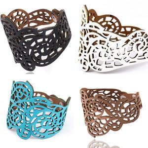Multicolor Men Leather Bracelet Jewelry Artificial Hollowing Out Decorative Patternmens Bracelets Blue Black White Brown 3 16jt J2