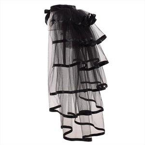 Party Tutu Tail Jupe Tulle Burlesque hiérarchisé Steampunk Black Mesh Ruffle Layered Detachabl Agitation Plus de jupe