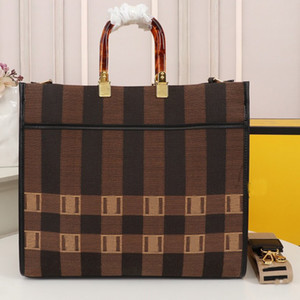 Mais recentes sacos de compras bolsas bolsas bolsas f símbolo letter patchwork cor lona portátil super capacidade de alta qualidade mulheres saco