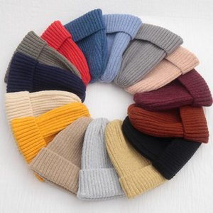 New Solid Knitted Warm Soft Hats for Women Beanie Fashion Trendy Winter Women Casual Caps Hair Accessories