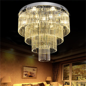 Modern minimalist led crystal chandelier living room bedroom ceiling lamp  double crystal lamp factory wholesale lamps