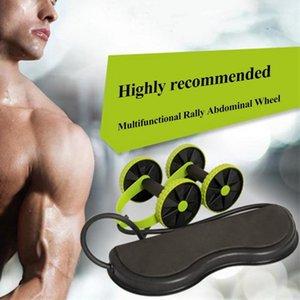 Ab Roller Wheel with Mat Abdominal Trainer Wheel Arm Waist Leg Exercise Multi-functional Fitness Equipment Exercise1