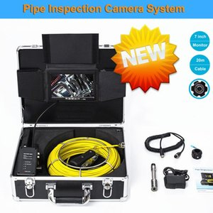 23mm HD Lens Drain Industrial Endoscope 7inch LCD Monitor Waterproof Pipe Sewer Pipeline Inspection Video Camera 20M Cable