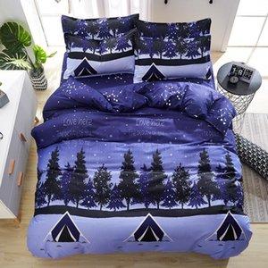 30 4pcs Cotton BeddingSet With DuvetCover BedSheet Pillowcase Home Textile Children Cartoon Bed Linen King Queen Full Twin Size