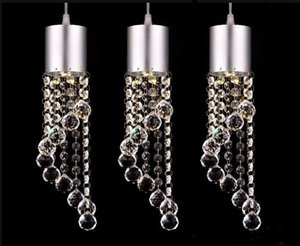 Hot sale 3head crystal droplight Fashion LED Crystal Chandeliers Modern Minimalist K9 Crystal Pendant Light restaurant Living Room Lights