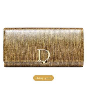 New Women Large Capacity Leather Purse Multi Card Long Short Fashionable Designer Wallet Pearl D Button Women Purse