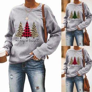 Frauen Designer Fröhlicher und heller Druck Sweatshirts Herbst-Winter-Frau Langarm Rundhals-Shirt Tops Frauen Pullover mit Kapuze S-2XL