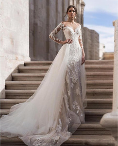 Designer Arabic Elegant Lace Wedding Bride Dresses Saudi Dubai Formal Mermaid Mariage Bridal Gowns African Vestido de noiva 2021