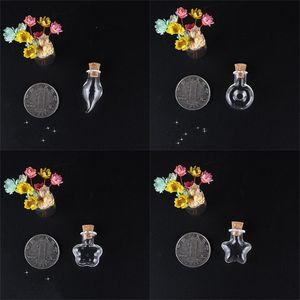 Bottiglia di deriva del quadrata a forma di cuore Mini Piccolo piccolo trasparente Wishing Glass in sughero Tappo in sughero Pendenti Pendenti Decorare Compact 0 99JD M2