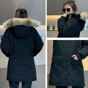 das mulheres de Inverno de Down Parka impermeável Casacos Big lobo real Fur com capuz mulheres moda Brasão Down Jacket Inverno de gril quente para as mulheres