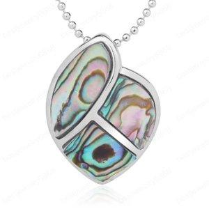 İnci Paua Paspas Shell Ekleme Geometri Takı Doğal Abalone Shell Kolye Kolye Mavi renkli Oyster Anne