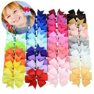 Pudcoco Pretty Baby Girls Capelli Archi per bambini Capelli Bands Solid Alligator Clips Accessori per forcine 40pcs1