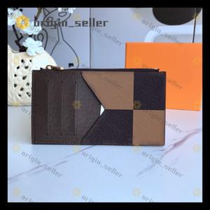 porte carte Mens Wallet Top Leder Damen Short Art-Designer-Kartenhalter-Qualitäts-Bank Card Fall Staubbeutel-Box Mode