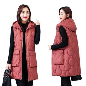 Plus Size 5XL 6XL Long Vest Women Autumn Winter Jacket Women Sleeveless Waistcoat Outerwear Down Cotton Vest Coat Parkas C58401