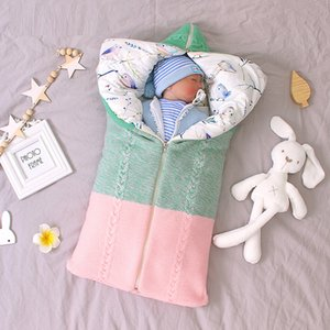 INS Hot Selling Autumn and Winter Baby Sleeping Bag Newborn Envelope Thickened Zipper Anti-Kick Sleeping Bag 201006
