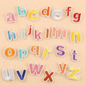 2 Style A-Z English Alphabet Letter Embroidered Iron On Patch Badge Paste For Clothes Bag Pant Sewing For Clothing