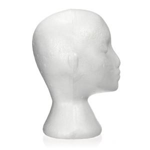 27,5 x 52cm Dummy / Mannequinkopf weiblich Foam (Polystyrol) Aussteller für Kappe, Kopfhörer, Haarschmuck und Perücken Frau Ma