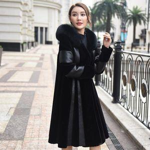 Real Fur Coat Female Fur Collar Wool Jacket Winter Sheepskin Coat Women Clothes 2020 Sheep Shearing Tops ZT40961