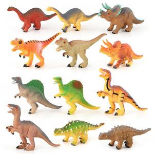 12 stücke Set Dinosaurier Jurassic Park Figuren Blöcke Velociraptor Tyrannosaurus Rex Blöcke Sets Kinder Tier Spielzeug Ziegel Geschenkbox Jurassic Spielen