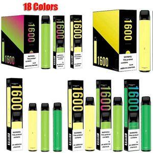 Слоеное XXL DISPOSABLE Pod комплект устройства 1600 пуфы Укажи Картридж Vape Пустой Pen 10 Цвет VS Air Bar