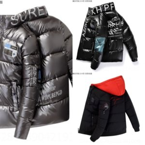 2gy الشتاء سترة ارتداء جودة عالية آذان صغيرة معطف الأزياء أسفل ضوء مقنعين أسفل الأطفال
