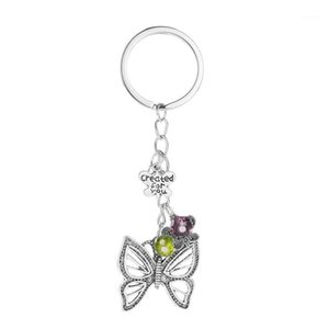 New Butterfly Keychain Bag Ornaments Europa e Stati Uniti Hot Jewelry Creative Letter Hollow Butterfly Pendant Jewelry1