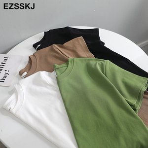 casual 95% Cotton Basic T Shirt Women Summer O-neck Short Sleeve sexy T shirt Plus Size 3XL solid Color slim Tee top Female A1112 A1112