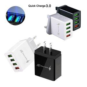 QC3 0.0 4 Puerto USB cargador rápido 5v / 2 .4a 12v / 1 .5a portátil adaptador de alimentación del ordenador Tablet PC portátil cargador inteligente móvil