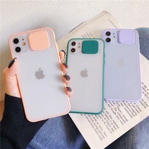 Camera Protection Slide Phone Case For iPhone 11 11Pro Max XR XS Max X 7 8 Plus 11Pro Shockproof Bumper Matte Transparent Cover