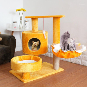 Pet Cat Scratcher Tree Tower Climbing Post Shelf Board Sisal Cat Jumping Platform Play House Furniture Cats Scratching Posts Toy1