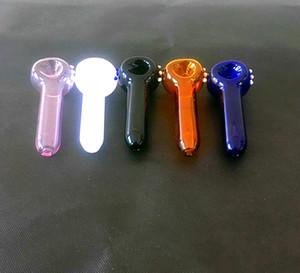Smoking Pyrex Glass Tobacco Spoon Pipes Colorful Glass Hand Pipes Mini Small Bowl Pipe With Bowl Smoking Pipe Pieces Accessories