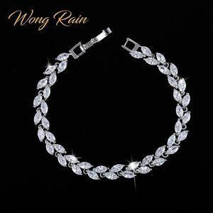 Wong lluvia 925 plata esterlina creada moissanite zafiro rubí amethyst gemstone brazalete brazalete pulseras brazaletes fina joyería al por mayor CX200612
