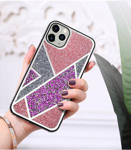 2020 Casos de Diamante Casos Bling Glitter Back Cover Protetor para iPhone 12 Mini 11 Pro Max X XS XR XS Max 7 7 P 8 8Plus