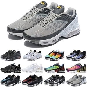 Fashion tn plus 3 men women sport shoes triple white Black Iridescent Parachute Pack Hyper Violet mens trainers sports sneakers runners