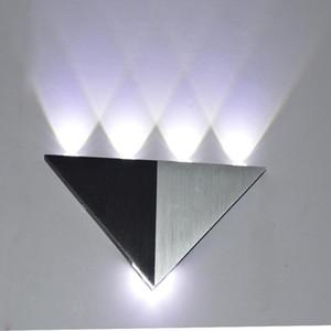 5W lampada LED Aluminium wall light rail project Triangle LED wall lamp bedside lights bedroom decor arts Dimmable