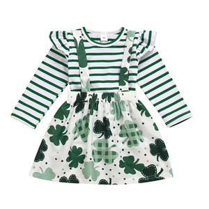 New st patrick's day INS Toddler Girls Princess Suit Two-piece Skirt Set Kids Dresses Baby Autumn Fashion Clothing Suitss