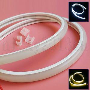 "12V 2835 LED Neon Tube Flexible Strip Light Rope Slim ""D"" Shape PVC IP67 Waterproof Outdoor for KTV Boat Bar Club Front Window Sign"