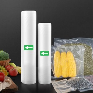 Embedded Food Saver Storage Bags Vacuum Seal Bags Kitchen Packaging Rolls 12 15 20 25 28 30x50cm Free Shipping