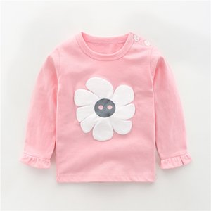 Autumn New Babys T-shirts For Girls Boys New Long Sleeve Kids T-shirts Cartoon Printed Tops Tees Casual Blouse Spring