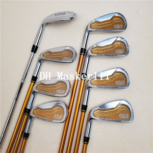 New golf left hand club KATANA sword irons set golf wedge iron graphite golf shaft SR FLex free shipping