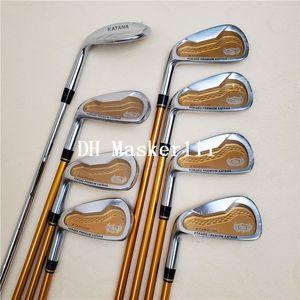 Novas golfe mão esquerda ferros espada clube KATANA definir cunha do golfe eixo de golfe de grafite ferro SR FLex frete grátis