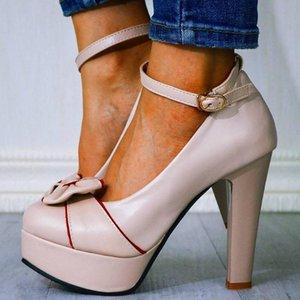 GIGIFOX 2020 Piattaforma dolce signore prua Tacchi alti grande formato 43 Women Shoes caviglia-cinghia Pompe