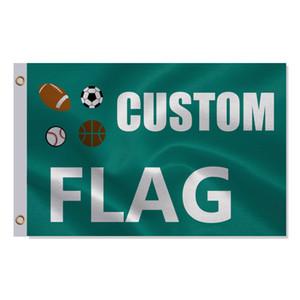 مخصص العلم أو راية 3x5ft 150x90cm 100D البوليستر الإعلان راية في الهواء الطلق داخلي تصميم نيويورك أي حجم أي صور